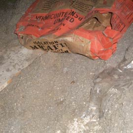 vermiculte bag in attic